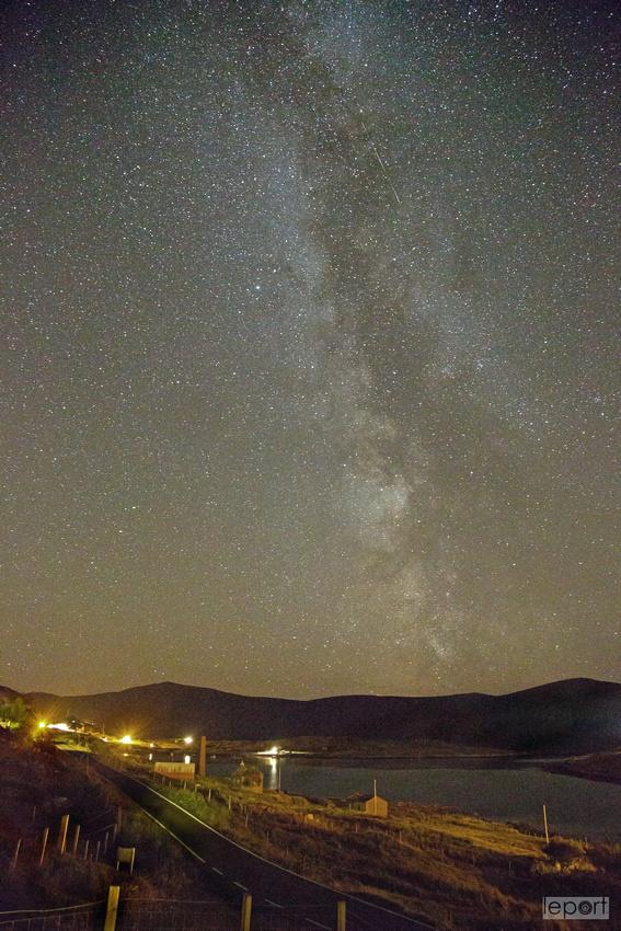 Milky way over Tarbert, Harris