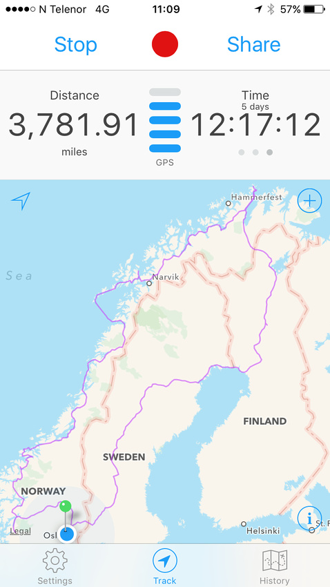 Norway probable route