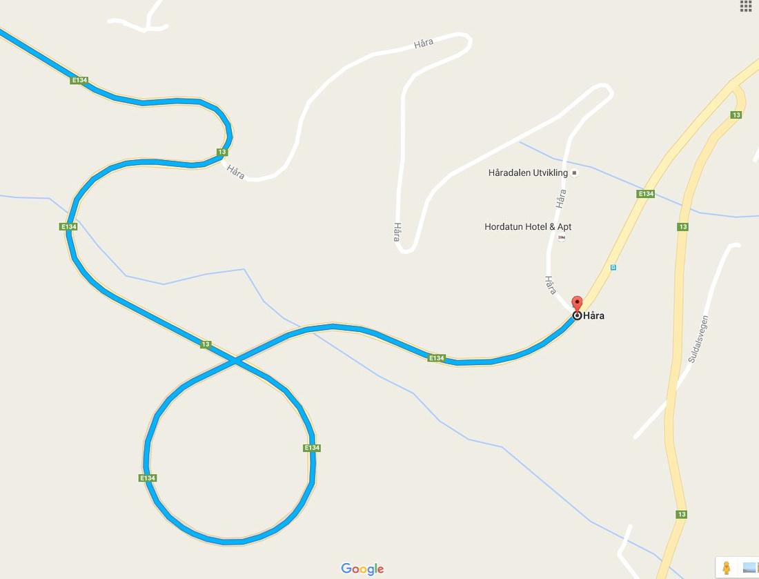 Roads around Hara