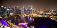 Looking over Singapore from the 56th floor of Marina bay sands