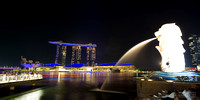 Singapore Merlion and Marina bay sands hotel